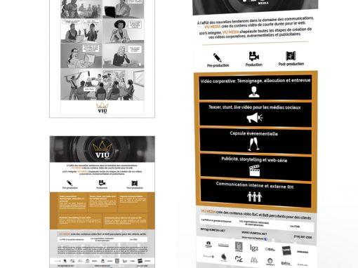 DESIGN GRAPHIQUE | Client VIÜ MÉDIAS