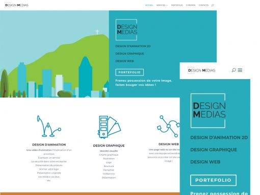 DESIGN WEB | Client DESIGN MÉDIAS