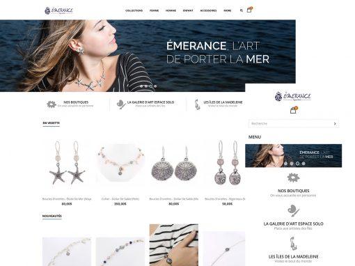 WEB DESIGN – Client Emerance Bijoux